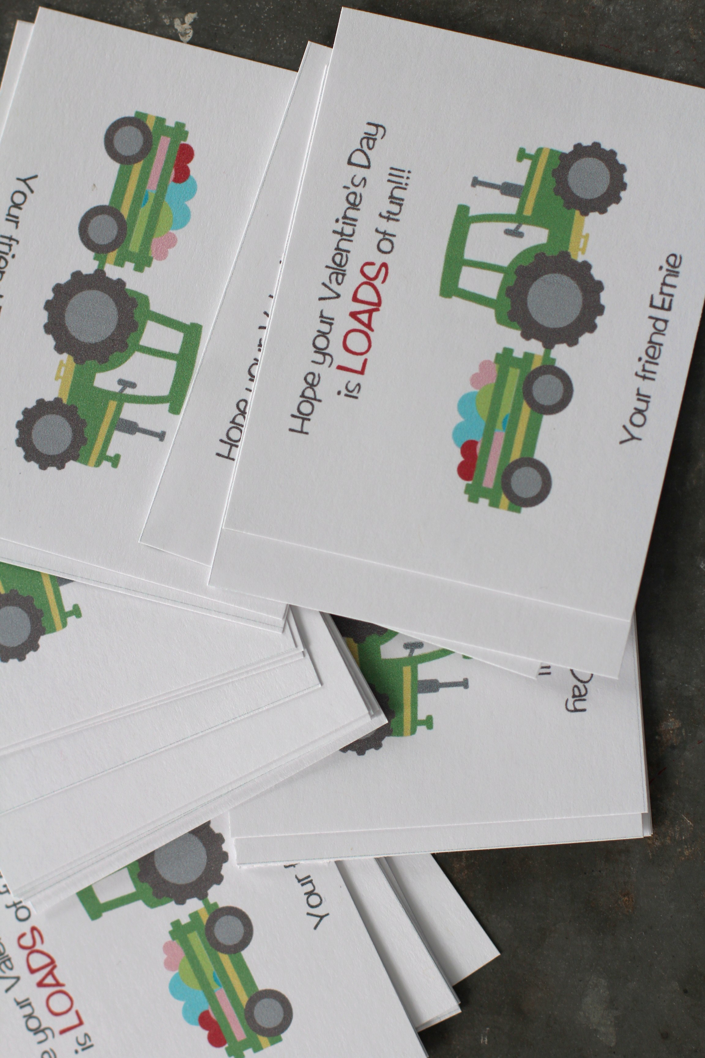 Tractor Valentine Cards : A day filled with love…or mostly tractors